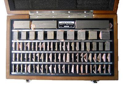 Shars 81 Pc Grade B Square Steel Gage Block Set W Usa Nist Cert New L
