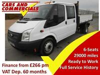2014 14 FORD TRANSIT TIPPER DOUBLE CAB 350 EF 1-WAY 1-STOP 125PS 2.2 DIESEL