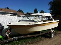 GREAT LITTLE FISIHING BOAT - 14 FT, 50 HORSE MERC.
