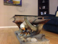 Coffee Table  Unique with EAgle art