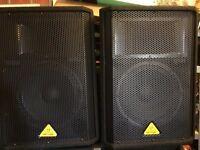 Behringer Eurolive VP 1220 800 watt speakers. Like new!