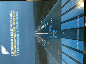 Contemporary Business Mathematics with Canadian (9th edition)