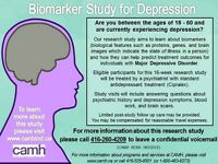 WANTED: Volunteers for biomarker study for depression