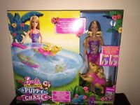 Brand new in box barbie, puppy, chase and pool