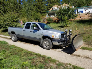 2006 Dodge Power Ram 2500 Pickup Truck and Snow Plow