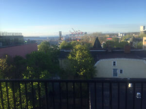 1 Bedroom + Den, downtown with harbour view, avail July