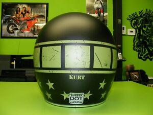 Military Theme - Matte Open Face Helmet - Med to XL at RE-GEAR Kingston Kingston Area image 3