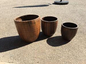 Set of 3 Flower Pots - NEW