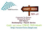 Tax service, Bookkeeping service and Payroll service call now