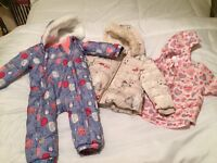 Baby girls coats and snowsuit