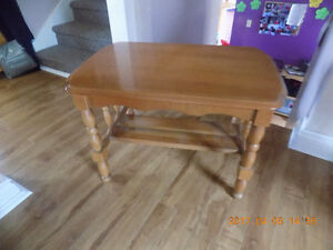 Solid Oak End Tables20'' x 27'' x 24'' high . Beautiful solid oa