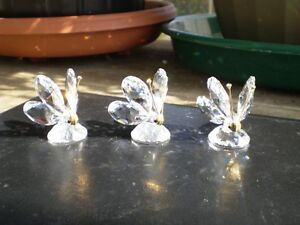 Swarovski Crystal Butterfly Figurines
