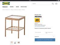 2 IKEA Nesna bedside tables