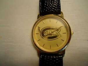RARE NHL CANADIENS MEN'S WATCH - OFFICIAL NHL LICENSED PRODUCT -