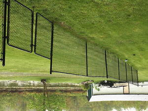 100' black chainlink fence 5'high