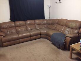 Free Electric reclining corner sofa