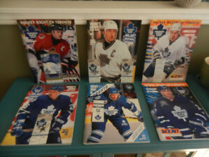 Toronto Maple Leafs Vintage 1990s Programs With Ticket Stubs