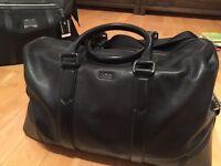 Hugo boss leather weekender duffel bag