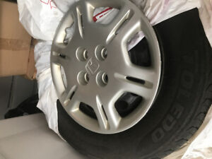 Used summer tires and rims 185/70R14
