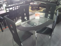 BRAND NEW GLASS TOP DINETTE ***$200 OFF