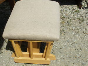 Swivel footstool for use with rocking chair
