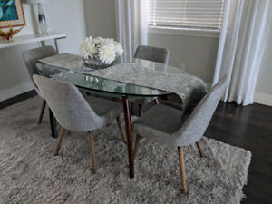 Glass Dining Table 70 inches