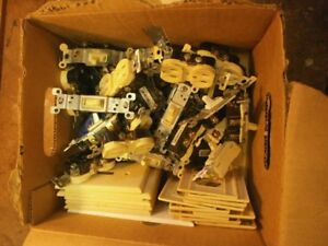 Large LOT of Electrical Receptacles,Switches, & switch plates