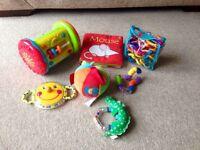 Baby toy bundle. Links, book, ball, teether etc