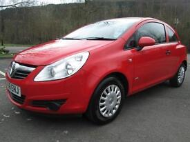 08/58 VAUXHALL CORSA 1.0 LIFE 3DR HATCH IN RED WITH 86,000 MILES