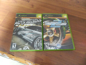 2 jeux Xbox need for speed
