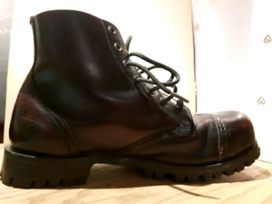 Leather Commando Boots