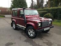 2002 (52) Land Rover Defender 90 County Station Wagon Td5 6 Seater Alveston Red