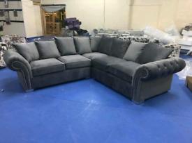 Brand New plush Velvet Corner Sofa