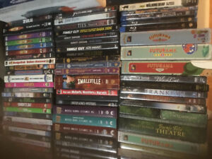 Approx. 150 assorted DVDs & Blurays
