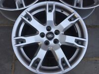 "RANGE ROVER EVOQUE set of four 18"" Alloy Wheels (without tyres)"