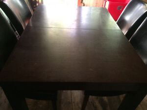 Espresso dining table w 4 ladder back chairs only $120