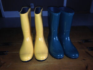 Two pairs women's UGGs rubber boots for sale