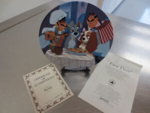 Lady and The Tramp Disney Plate