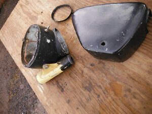 CB77 305 Super Hawk Parts Lot. Headlight Fork Ear Side Cover