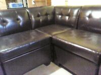 Bonded brown leather sectional to trade for outdoor patio sectio