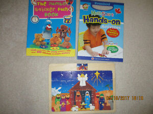 large sticker books-NEW- and puzzle