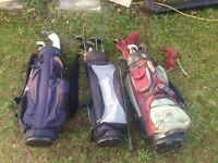 Right handed clubs and bags
