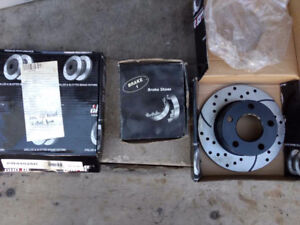 2006 VW Passat rear rotors and emerg brake shoes 2WD