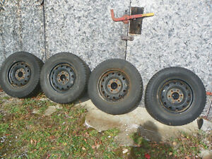 R16 steel rims with tires