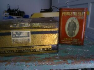 Prince Albert Crimp Cut and King George's Chewing Tobacco Tins.