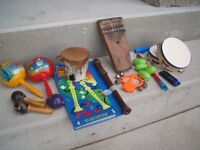 Lot of assorted musical instruments for the kids