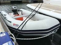 Valiant Rib tender with Mariner 15 hp outboard engine