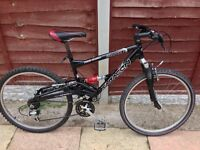 MENS 20 INCH SARACEN SUSPENSION MOUNTAIN BIKE 21 SPEED SMETHWICK £50