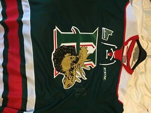 Halifax mooseheads signed jersey timo meier