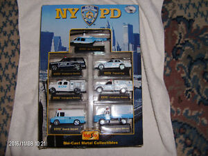 NYPD BOX SET DIE CAST POLICE VEHICLES